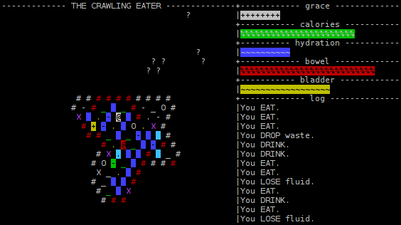 "A screenshot of ""The Crawling Eater"", early development version."